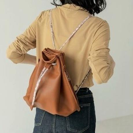パイソンコード巾着bag