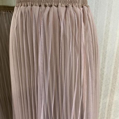 ダブルプリーツロングスカート
