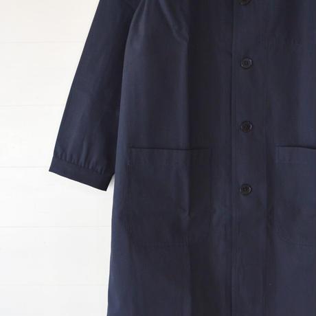 COMMUNE WORKS/ NO COLLAR COAT (Unisex/navy)