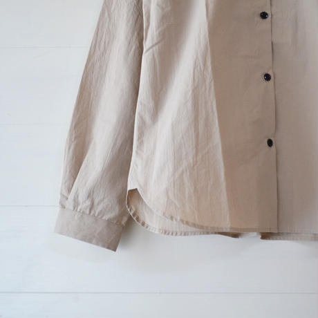 COMMUNE WORKS/ STAND COLLAR GATHERED SHIRT (Lady's)
