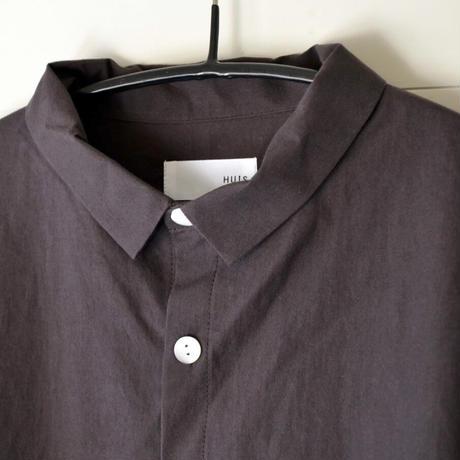 HUIS/ ダウンプルーフコットンロングシャツ(Unisex/ダークグレー)