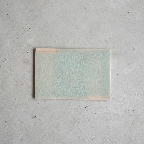 ひがせ陶房 板皿  木灰