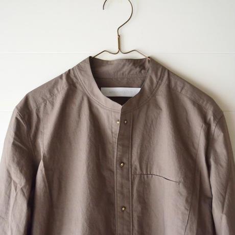 ASEEDONCLOUD/ Band collar Shirt (Lady's/Khaki)