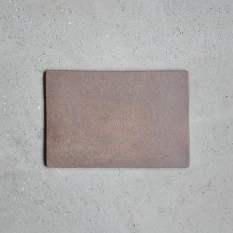 ひがせ陶房 板皿 ワラ白(赤土)