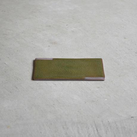 ひがせ陶房 板皿 ビードロ(赤土)