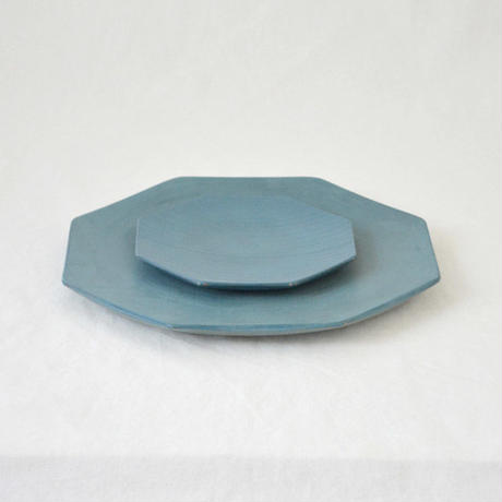 ichi Plate kaku  L/水色
