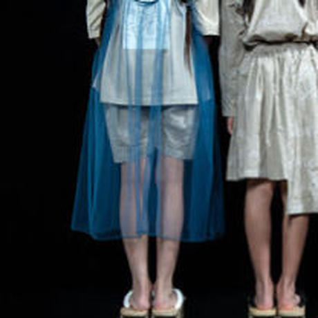 "【UNIONINI】""WORD"" tulle long dress"