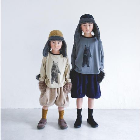 【michirico】 mocomoco half pants(サイズM navy)