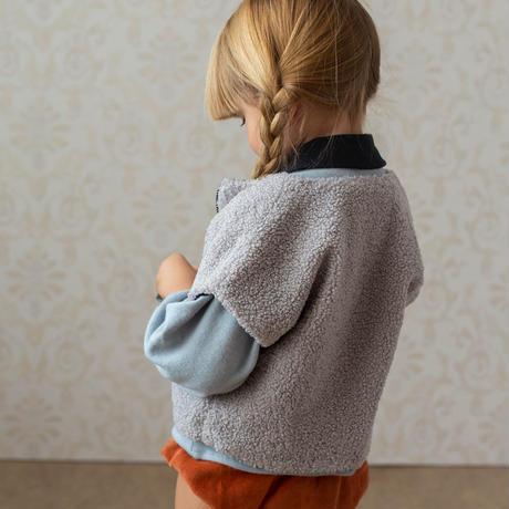 【POPELIN】Grey sheepskin-style waistcoat (サイズ2-3Y)
