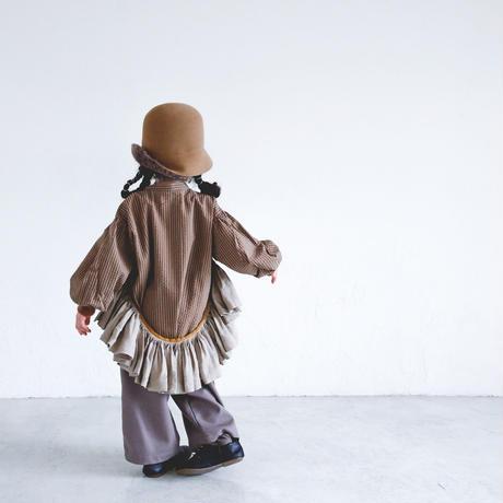 【michirico】stripe shirts(kidsサイズL、XL、XXL)