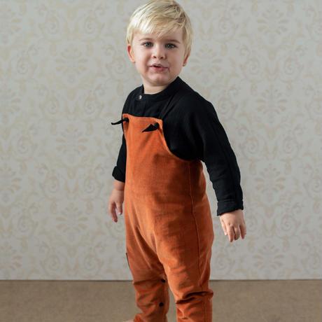 【POPELIN】Orange dungarees
