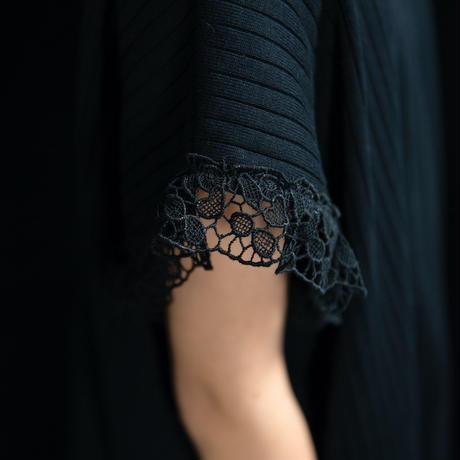 【UNIONINI】teddybear lace rib tops