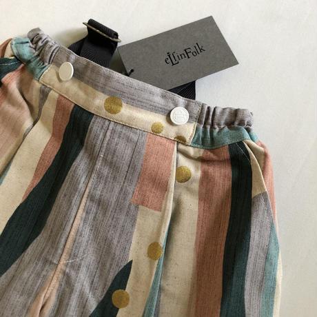 【eLfinFolk】  Crambon stripe suspenders pants