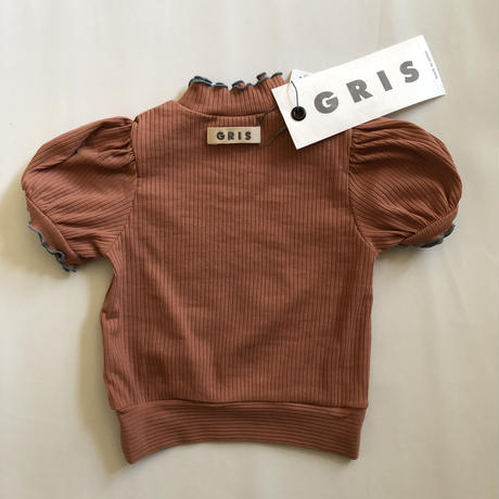 【GRIS】Rib Pullover Tops  (Coral) (サイズXS、S)