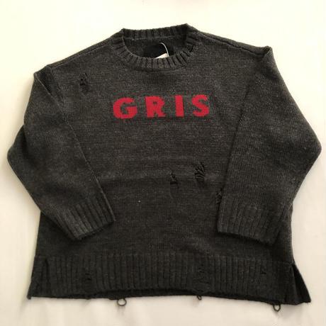 【GRIS】Long Damege Sweater (サイズS~L)