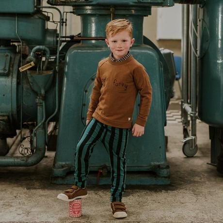 【SPROET&SPROUT】 KIDS LEGGING PAINTED STRIPE PINE GREEN