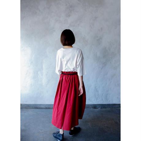 【michirico】center slit skirt BLACK woman's