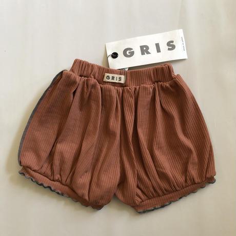 【GRIS】Rib Balloon Shorts  (Coral) (サイズXS、S)
