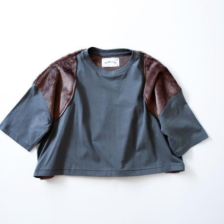 【michirico】boa pullover (サイズL、XL、XXL フロストグレー)