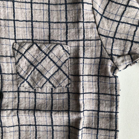 【tocoto vintage 】Checkered mao shirt with pocket