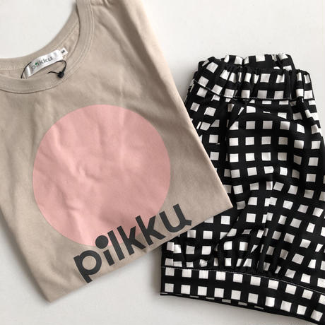 【pilkku】ブロックチェック バルーンパンツ(サイズSS、S)