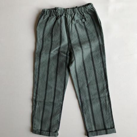 【MARLOT】trouser MARLITO Green dark grey stripes