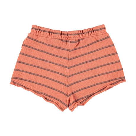 【piupiuchick】Shorts coral & grey stripes