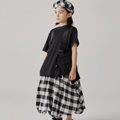 【GRIS】Balloon Skirt Black×White (サイズXS、S)