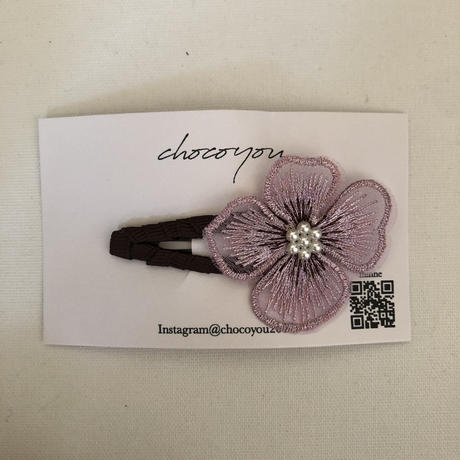 【chocoyou】embroidery chouchou pin/embroidery flower pin