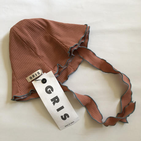 【GRIS】Rib Hat (coral)