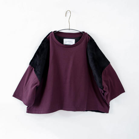 【michirico】boa pullover (サイズL、XL、XXL ハックルベリー)
