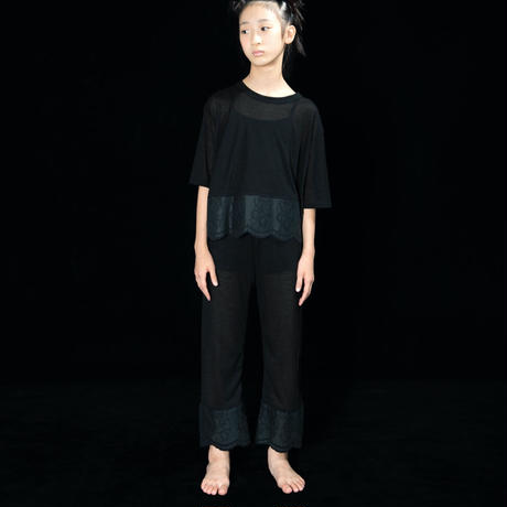 【UNIONINI】teddybear lace sheer pants