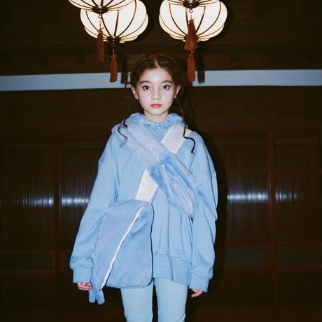 【UNIONINI】  fur shoulder bag(mizuiro)