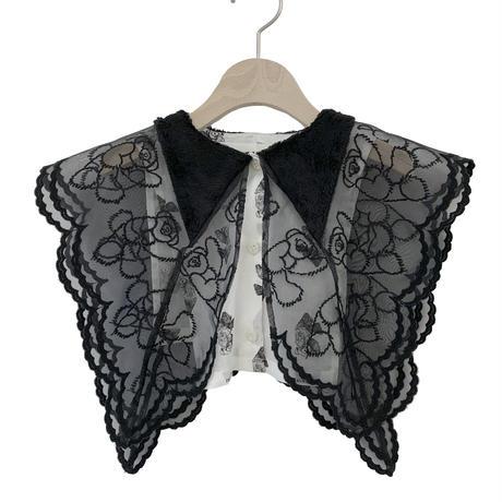 【UNIONINI】fur collar(black)