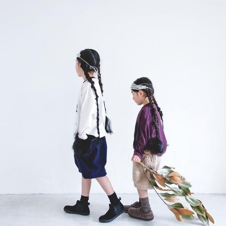 【michirico】mocomoco half pants(サイズM beige)