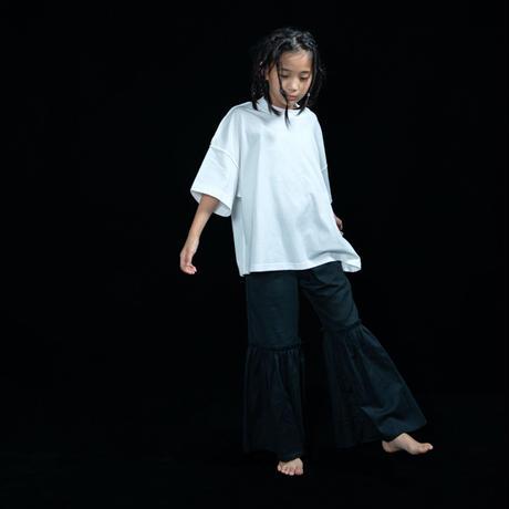 【UNIONINI】linen big frill long pants