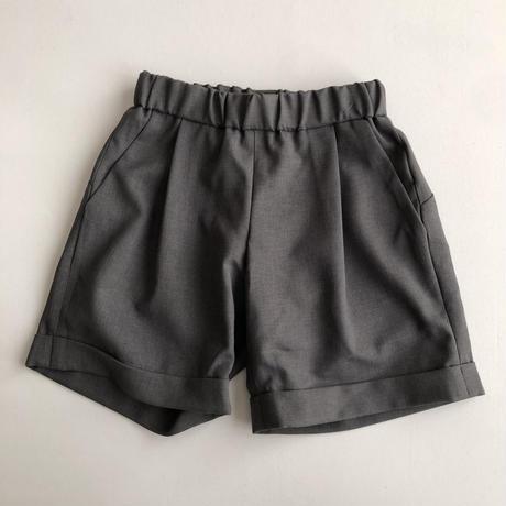 【MOUN TEN.】polyester canapa 1tuck shorts