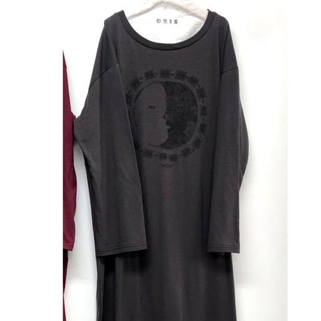 【GRIS】Print Long One Piece (サイズM、L)