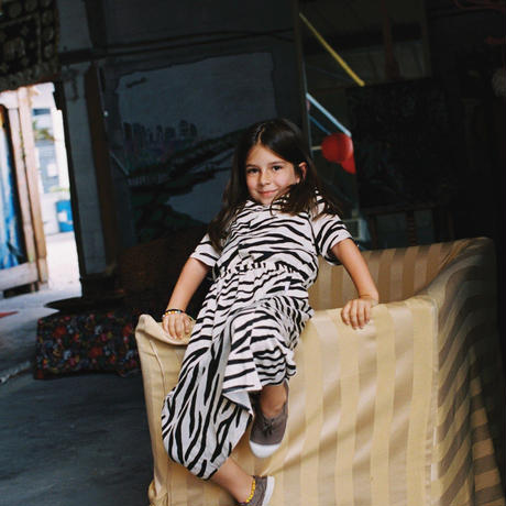 【maed for mini】 SMILING ZEBRA/BLOUSE