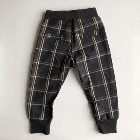 【kids on the moon】ANTHRCITE PLAID JOGGERS