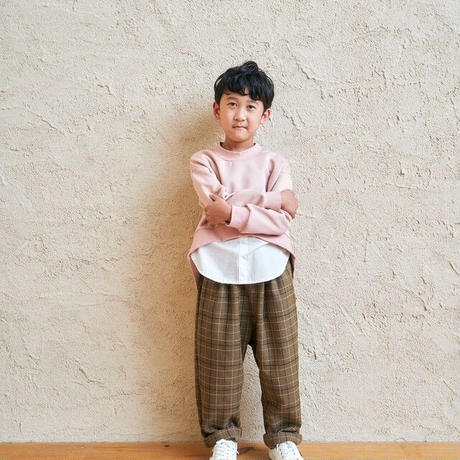 【pilkku】ダンボールニットクルーネックプルオーバー(サイズM、L)