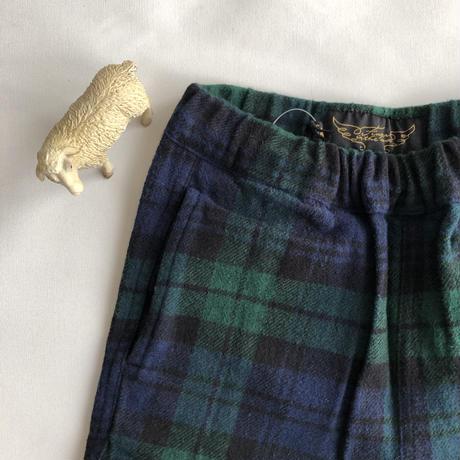 【Finger in The Nose】STORM navy checks unisex woven pants (サイズM、L)