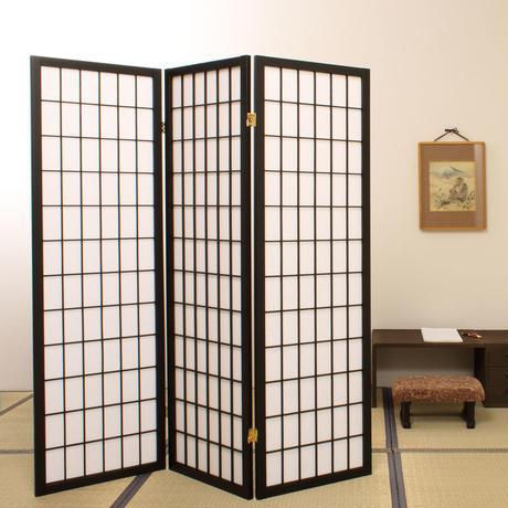 弘益 和風衝立(高さ150cm) JP-3連こだま(BK)・ひかり(BR)