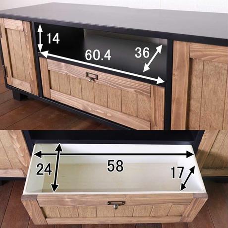 平インテリア産業 TVボード 幅120 ロータイプ ホワイト 収納 引出し TV台 テレビボード チェスター