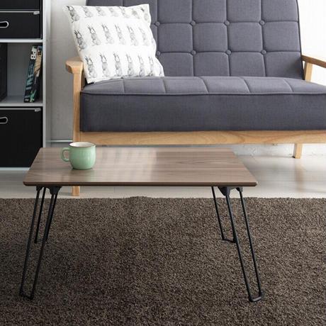 永井興産 幅60cmカームテーブル/机/木製/折り畳み/ローテーブル/ナチュラル/ミニ/コンパクト/北欧