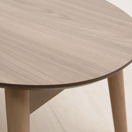 永井興産 オーバルカームテーブル 幅90cm/机/木製/折り畳み/ローテーブル/ナチュラル/モダン/座卓/北欧