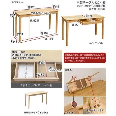 サカベ【日時指定不可】木製テーブル(デスク) 120x45 NA/WW