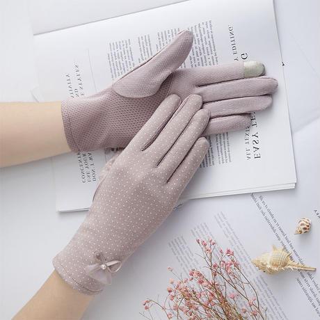 #27紫外線対策上品ドット手袋 / スマホ対応可