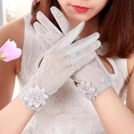 #28紫外線対策レース手袋 / スマホ対応可