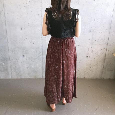 #8甘さ控えめ花柄ロングスカート